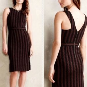 Anthropologie Maeve Dress Meridian Black Brown XS